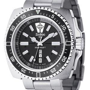 Zodiac V-Wolf Stainless Steel Unisex Diver Watch